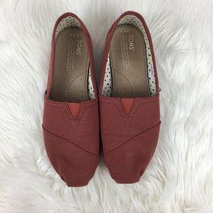 Toms Canvas Shoes Size 8.5
